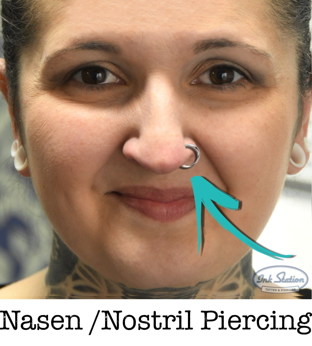 Nasen Nostril piercing piercing ABC ink station stuttgart piercingstudio