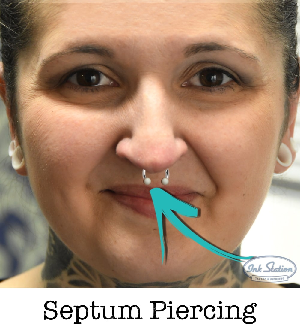 Septum piercing piercing ABC ink station stuttgart piercingstudio