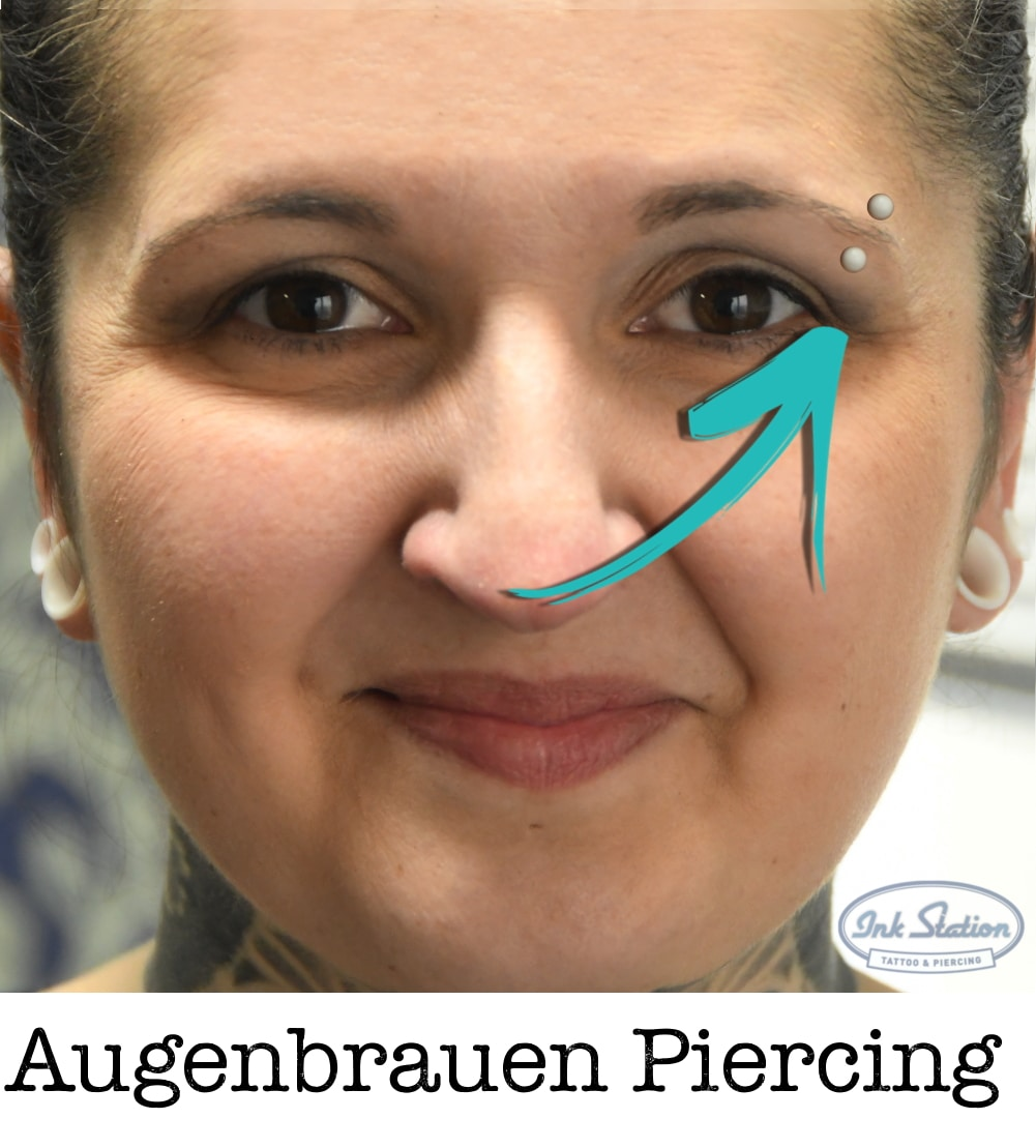 augenbrauen piercing piercing ABC ink station stuttgart piercingstudio