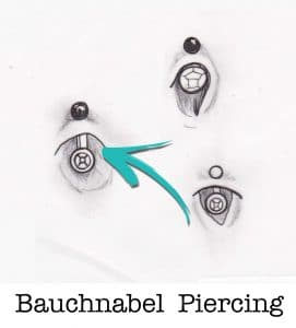 Bauchnabel piercing piercing ABC ink station stuttgart piercingstudio