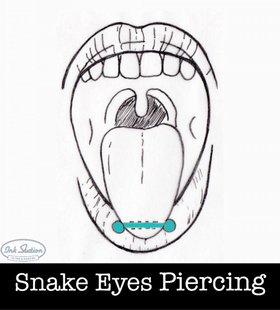 Snake Eyes piercing piercing ABC ink station stuttgart piercingstudio