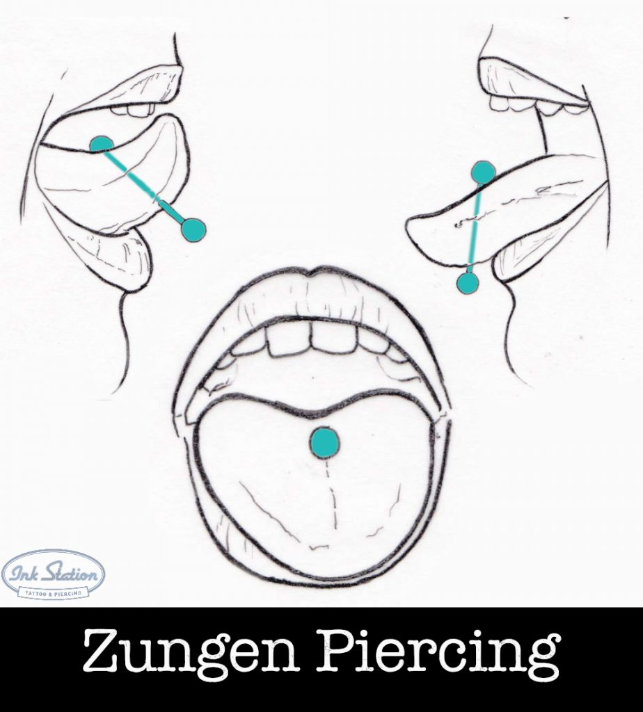 Zungenpiercing piercing ABC ink station stuttgart piercingstudio.