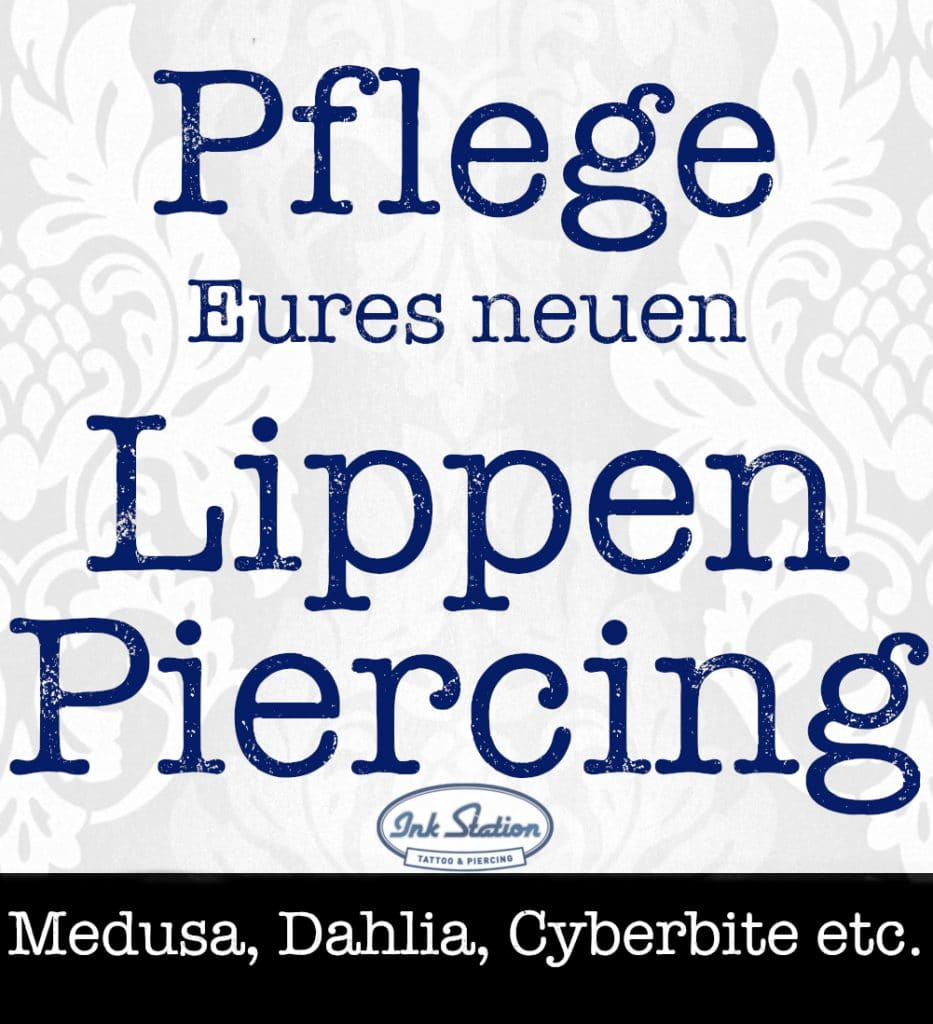 Lippenpiercing piercing ABC ink station stuttgart piercingstudio.