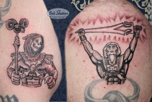 Skeletor he man and the masters of the universe stuttgart tattoo taetowierung blackandgrey