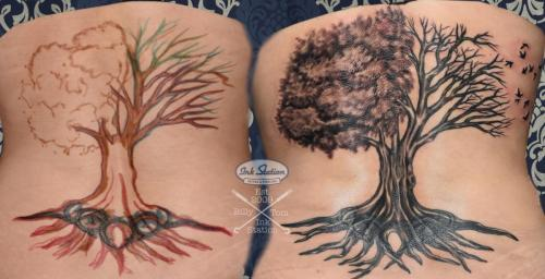 Tattoo stuttgart taetowierung 0711 fineline inkstation inked Coverup Coveruptattoo Coveruptattoos Coverupspezialist blackandgrey baum tree