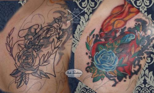 Tattoo stuttgart taetowierung 0711 fineline inkstation inked Coverup Coveruptattoo Coveruptattoos Coverupspezialist rosen flower (1)