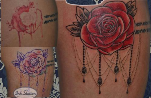 Tattoo stuttgart taetowierung 0711 fineline inkstation inked Coverup Coveruptattoo Coveruptattoos Coverupspezialist rosen flower (3)