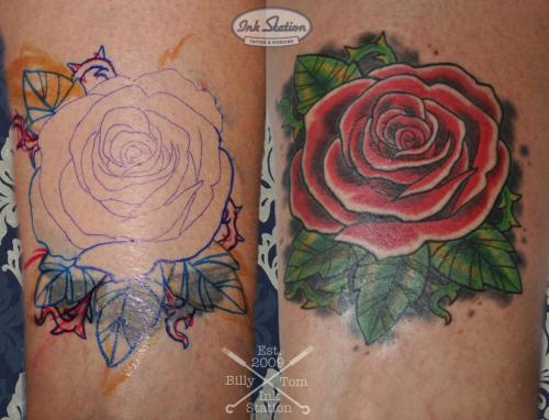 Tattoo stuttgart taetowierung 0711 fineline inkstation inked Coverup Coveruptattoo Coveruptattoos Coverupspezialist rosen flower (4)