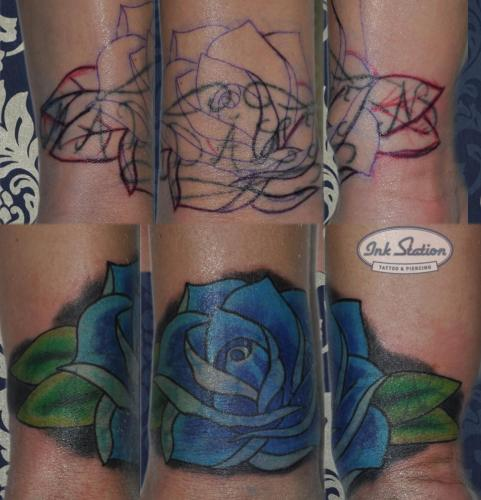 Tattoo stuttgart taetowierung 0711 fineline inkstation inked Coverup Coveruptattoo Coveruptattoos Coverupspezialist rosen flower (6)