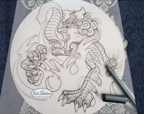 baku drawing asia Tattoo zeichnung stuttgart copic blackandgrey 0711 fineline inkstation asiaart (1)