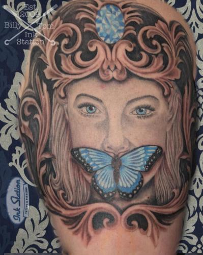 butterfly schmetterling diamand blackandgrey tattoo stuttgart taetowierung inked 0711 tattoostudio inkstation