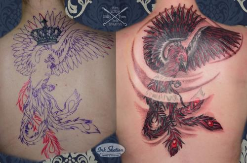 phönix coverup Tattoo stuttgart taetowierung 0711 fineline inkstation inked blackandred (1)