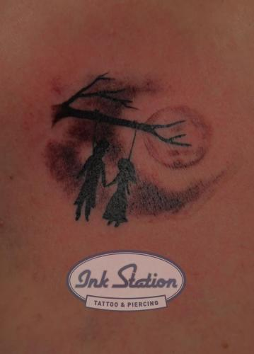 togertherforerver tattoo taetowierung 0711 stuttgart fineline inkstation Inkstationtattoo blackandgrey  Small