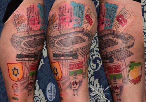 vfb Stuttgart Tattoo stuttgart taetowierung 0711 fineline inkstation inked neckarstadion fussball tradition bundesliga tipkick cannstatt